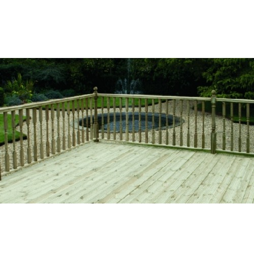 3000mm x 3600mm Handrail Decking Kit