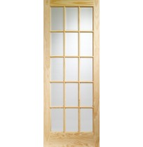 """XL Joinery"" Internal Clear Pine SA77 with Clear Glass (15 Light)"
