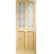 Internal Knotty Pine Victorian with Bluebell Glass