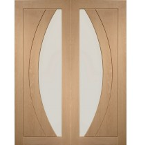 Internal Oak Salerno Pair with Clear Flat Glass