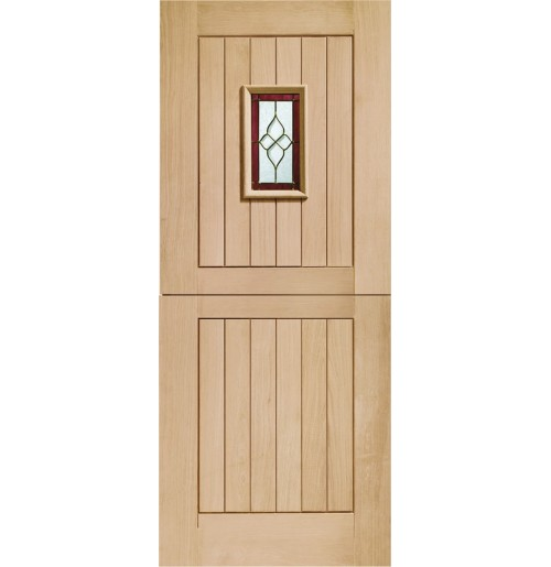 """""""XL Joinery"""" Oak Chancery stable with Brass caming"""