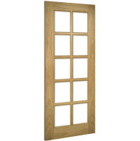 "Deanta ""Bristol"" internal Unfinished oak Bevelled glass"