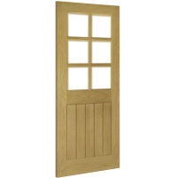 "Deanta ""Ely 6L"" internal Pre-finished oak Bevelled glass"