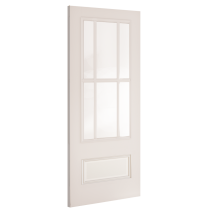 "Deanta ""Canterbury Glazed"" white primed door"