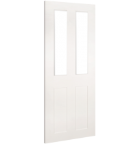 """Deanta """"Eton Clear Glazed"""" white primed door"""