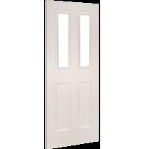 """Deanta """"Rochester Glazed"""" white primed door"""