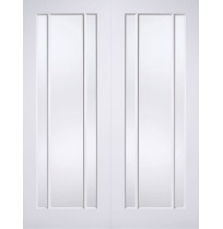 "LPD Doors ""Lincoln Glazed Pairs"" White Primed"