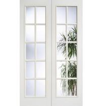 "LPD Doors ""SA 20L Glazed Pair"" White Primed"