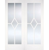 "LPD Doors ""Reims Glazed Pairs"" Primed White"