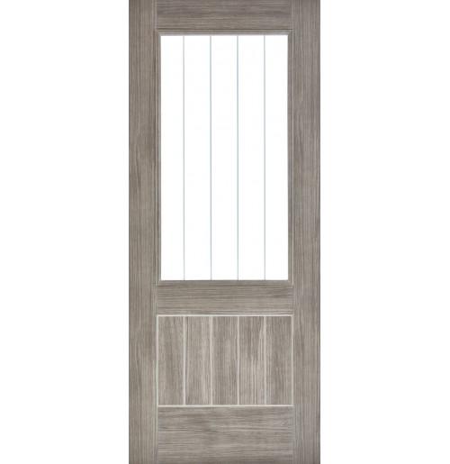 "LPD Doors ""Mexicano Glazed"" Light Grey"