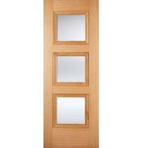 """LPD Doors """"Amsterdam Glazed"""" Internal Oak Pre finished"""
