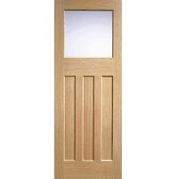 "LPD Doors ""DX 30's Style Glazed"" Unfinished Oak"