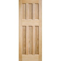 "LPD Doors ""DX 60's Style"" Unfinished Oak"