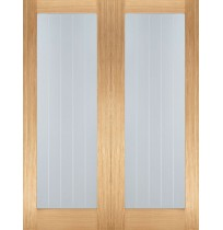 "LPD Doors ""Mexicano Pattern 10 Glazed Pairs"" Unfinished Internal Oak"