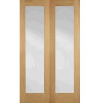"LPD Doors ""Pattern 20 Glazed Pairs"" Unfinished Internal Oak"