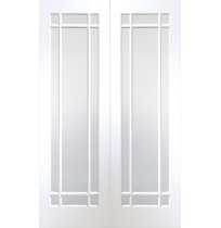 Internal White Primed Cheshire Pair with Clear Glass