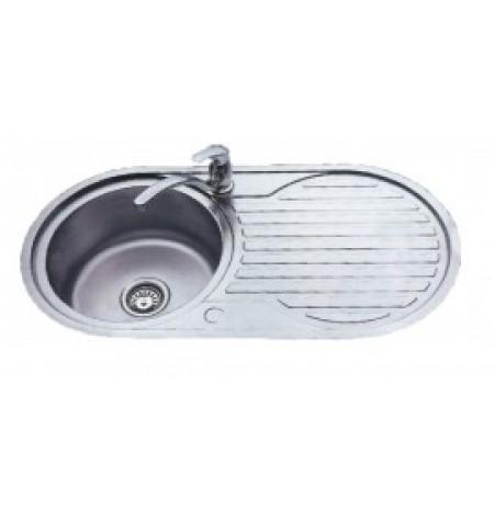 Discount diy Single bowl round sink