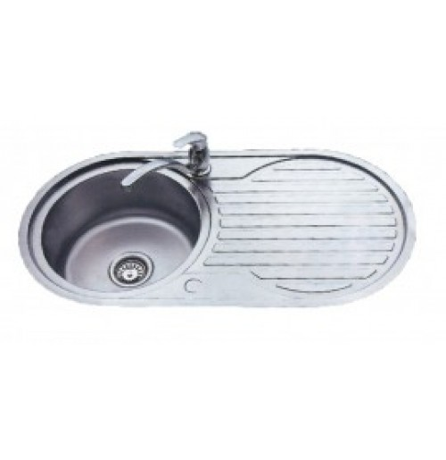 Discount diy Single bowl round sink