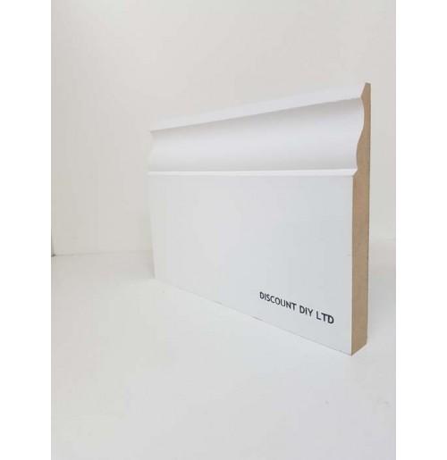 White Primed Skirting Board (Ogee Pattern)