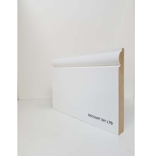 White Primed Skirting Board (Torus pattern)