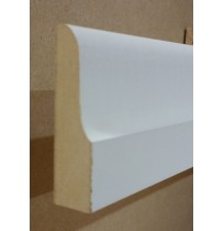 White primed Architrave (Lambs Tongue)