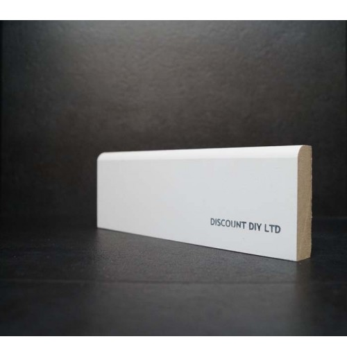 White primed Architrave (Pencil round)