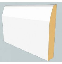 White Primed Skirting Board (Chamfered)