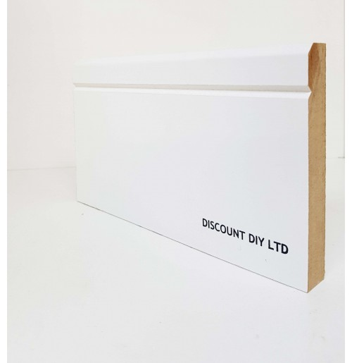 White Primed Skirting Board (Contemporary)