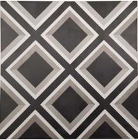 Mary Black Floor Tile