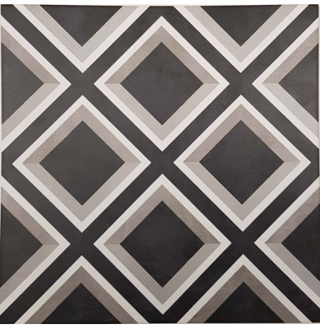 Mary Black Floor Tile