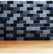 Lofthouse petrol Grey mosaic tile (BCT)